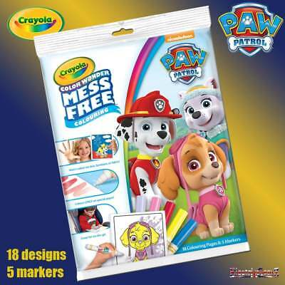 Crayola Paw Patrol Color Wonder Magic Mess Free Magic Colouring Book & Pens Set
