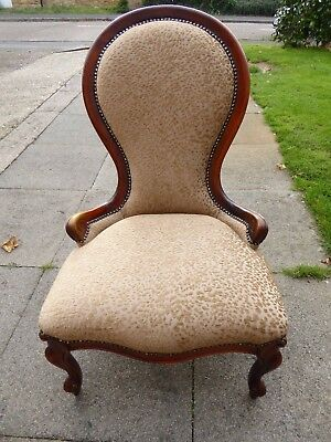 Recently Refurbished / Re-upholstered Louis Style Nursing Chair