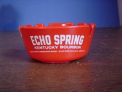 Echo Spring Bourbon Ashtray 86 Proof Red Plastic Louisville Kentucky made in USA