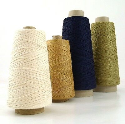 Strong Fine Pure Natural Linen Thread, Undyed Yarn,Weaving, Bookbinding 90g 590m