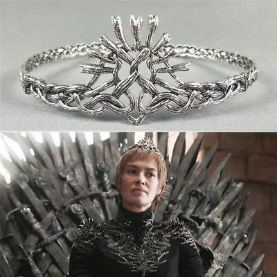 Game of Thrones Season 7 Cersei Lannister Cosplay Crowns Alloy Tiaras Prop Gift