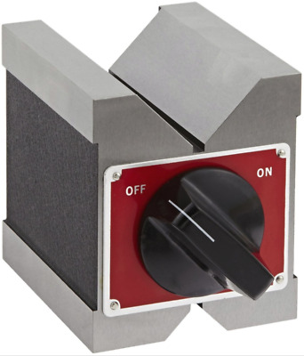 "Starrett 566 Dual-Vee Magnetic V-Block, 1-3/4""/ 44mm Capacity"
