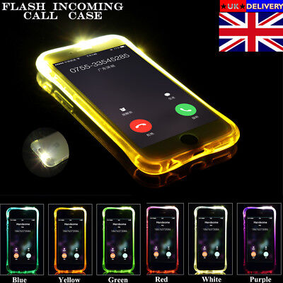 Fashion LED Flash Lighting Case TPU Incoming Call Case For iPhone X 5 6S 7 Plus