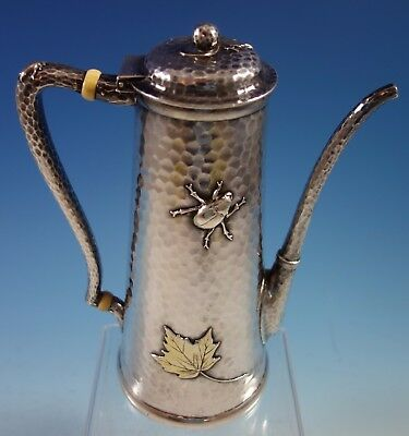 Mixed Metals by Tiffany & Co. Sterling Silver Demitasse Pot Bugs Aesthetic #2053