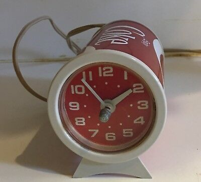 Estate Rare Old Vintage Coca Cola Plastic Can Desk Table Clock HTF!!