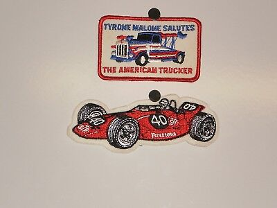 2 Firestone Tire Tyrone Malone Patches NOS