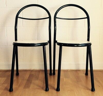RENE HERBST Ed MOBILOR Chaises Vintage Signées 1950 Early Version garden Chair