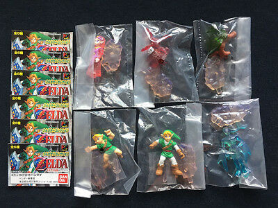 1999 Bandai The Legend of Zelda Ocarina of Time Set 6 Gashapon Collection Figure