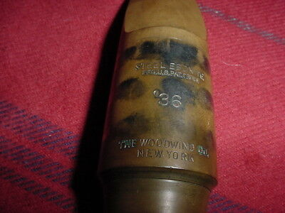 Vintage Hard Rubber Tenor Sax The Woodwind Co 36 New York Sax Mouthpiece