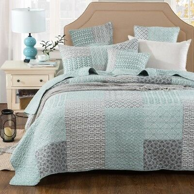 French Country Style Bed Quilt MONTPELLIER New Coverlet incl 2 pillowcases