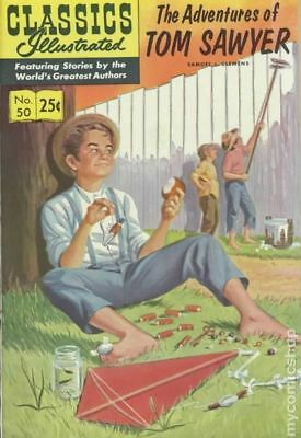 Classics Illustrated 050 Adventures of Tom Sawyer #15 1971 FN 6.0 Stock Image