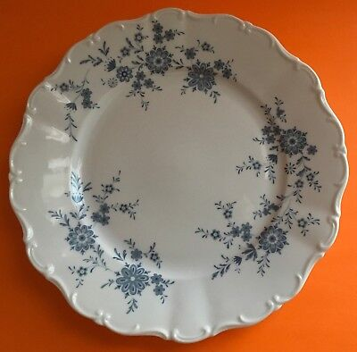 Christina Porcelain Seltmann Weiden W. Germany Bavarian Blue Dinner Plate VGC