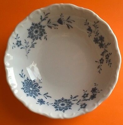 Christina Porcelain Seltmann Weiden W. Germany Bavarian Blue Coupe Cereal Bowl