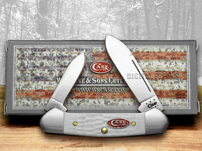 CASE XX White Jigged Synthetic Baby Butterbean Pocket Knives Knife