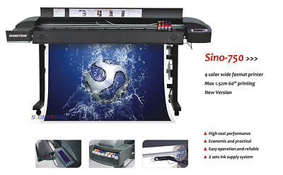 """High Quality 60"""" Large Wide Format Printer Sino-750+RIP,USB,For Indoor & Outdoor"""