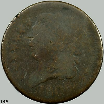 1809 1/2C Cohen-4 Classic Head Half Cent, Repunched , R.3