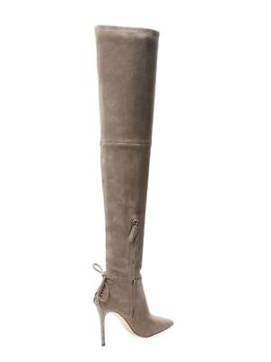 dd4350ee4f8 Pour La Victoire Caterina Grey Suede Over The Knee Boots Shoes 9.5 M NEW   595