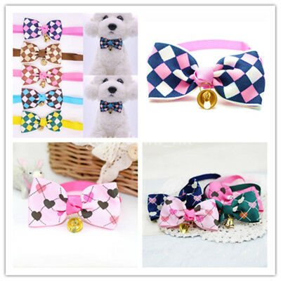 Puppy Pet Dog Cat Bowtie With Bell Ribbon Collar Bow Tie Adjustable Pet Supplies