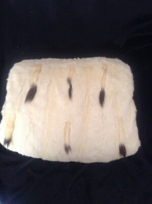 Large White Ermine Muff - Edwardian - Very Good Condition - Free Ground Shipping