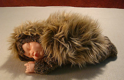 Anne Geddes Baby Hedgehog Stuffed Animal Doll w/ Tag Bean Filled Collection