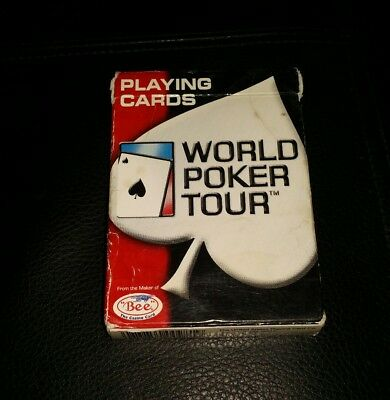 Pre-owned World Poker Tour WPT Ohio-made BEE Playing Cards Red Deck