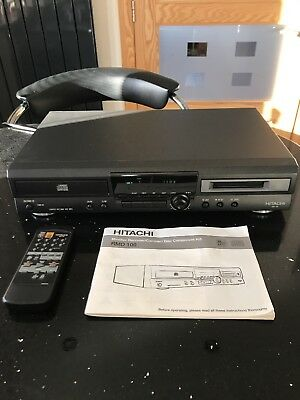 Hitachi Minidisc recorder And compact disc component Player hifi RMD 100