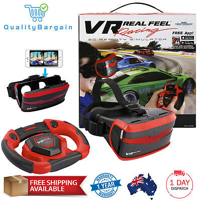 VR Real Life Racing Simulator Set Bluetooth Headset 3D Virtual Reality Games App