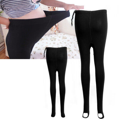 Sexy Black Pregnant Women Thick Comfortable Warmer Leggings Maternity Pants Gift