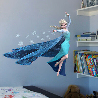 New DIY FROZEN Elsa Wall Stickers Removable Art Home Room Mural Stickers