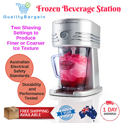 Frozen Beverage Station Ice Cold Slushy Maker 940ml with Two Shaving Settings