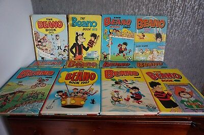 12 Beano books, mostly good condition