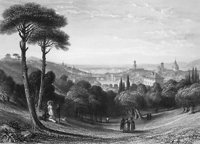 ITALY View of Florence - 1864 Fine Quality Print Engraving