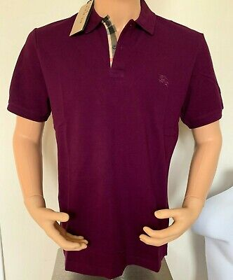 b28dfe2533e9 BURBERRY BRIT MEN S Check Placket Polo Shirt Dark Royal Purple ...