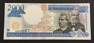 Dominican Republic 2000 Pesos Millenium edition year 2000 RARE AND LOW NUMBER