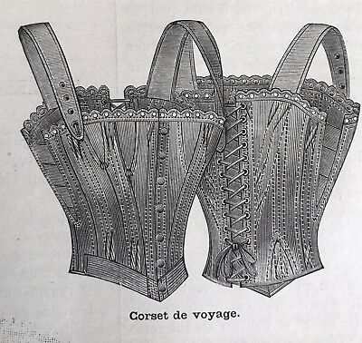 MODE ILLUSTREE SEWING PATTERN July  2,1893 CORSETS , LINGERIE