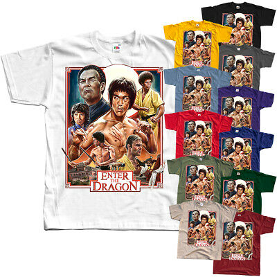 Enter The Dragon - Bruce Lee, T-shirt (WHITE,RED,BLACK) All sizes S - 5XL