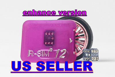 RSIM 12 Latest Version For iPhone X 8P 7 7P 6S 5S LTE-4G IOS 11  Unlock Card Lot