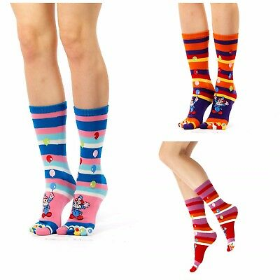 Toe Socks 5 Toes Fun Present Gift Stripes Christmas  Stocking present one size