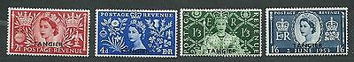 British Offices Abroad Tangier Morocco # 579-580-581-582 M.H. set overprinted