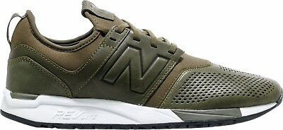 New Balance 247 Luxe Leather Olive White MRL247NO Mens 8-13