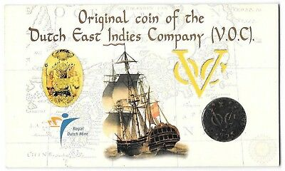 NETHERLANDS EAST INDIES VOC 1 DUIT 1766 Holland, Shipwreck Coin B2