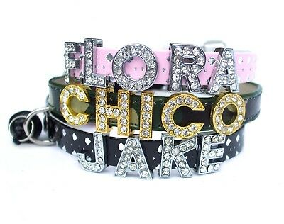Personalised Safety Cat Collar Rhinestone Name Bling Charms