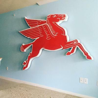 Mobil Oil PEGASUS Advertising Sign COOKIE CUTTER  FRAME Petrofina Oil HUGE!