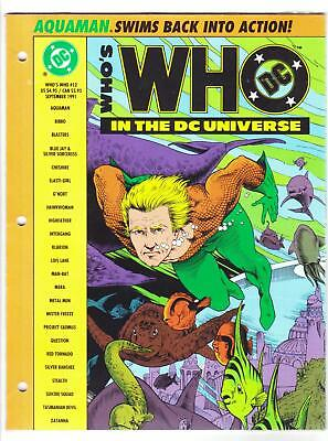 WHO'S WHO IN THE DC UNIVERSE Looseleaf Edition #12 (9/91)--NMMT / Golden art^