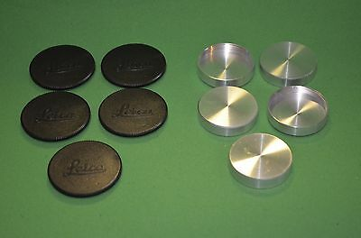 5 Body Cap and 5 Rear Lens Caps f/ Leica Screw Mount Camera & Lens 39mm IIIc IIc