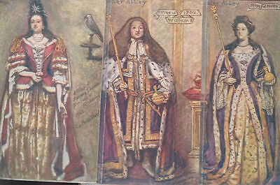 pc9317 postcard Westminster Abbey Costumes THREE all MOBSC