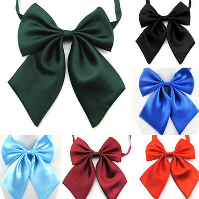 Women Lolita Solid Necktie Adjustable Bow Tie Shcool Uniform Costume Accessory