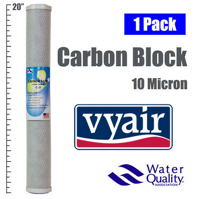 "1 x 20"" CARBON BLOCK 10 MICRON TASTE AND ODOUR REVERSE OSMOSIS WATER FILTER"