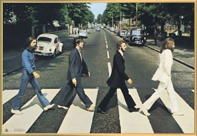 The Beatles Poster & Kunststoff-Rahmen Gold (91x61cm) #AH9GA