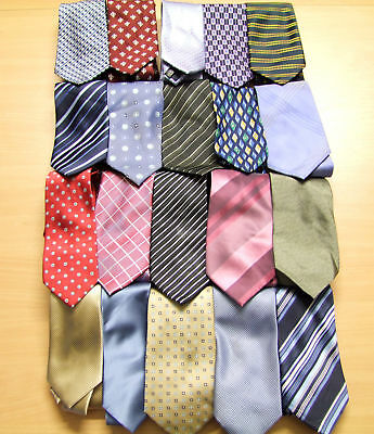 Wholesale Pack Of 20 Men's High Street Branded Polyester Ties Excellent Conditio